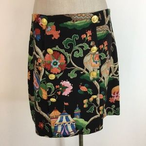 B Collection Skirt size 8 Monkey Cotton Lined New